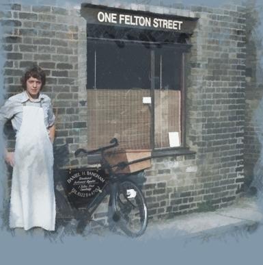 Daniel outside the Felton Street shop