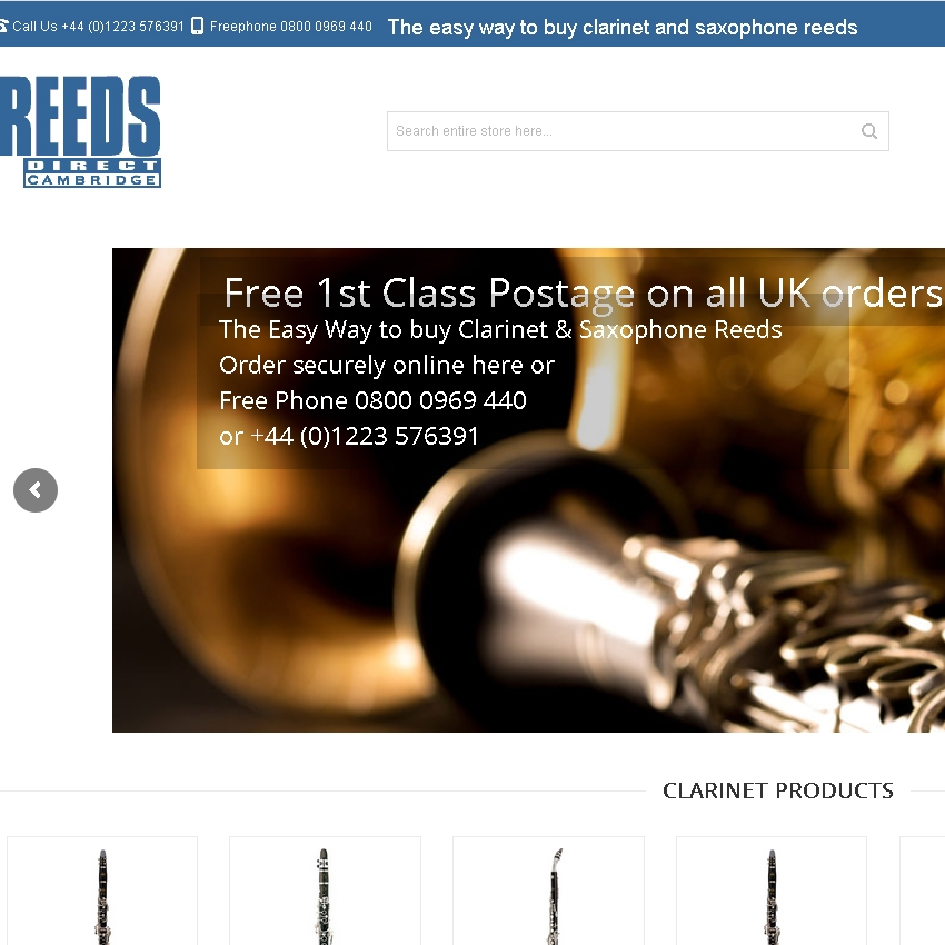 Reeds Direct home page